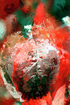 Splatter Paint Leaves by Geraldine Scull
