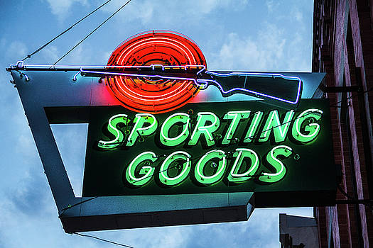 Sporting Goods Sign by Steven Bateson