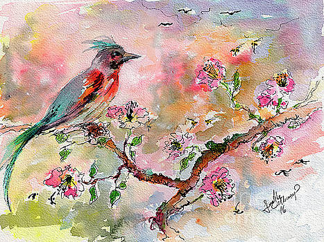 Ginette Callaway - Spring Bird Fantasy Watercolor