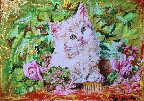 Spring blossom with cats by Agnes V
