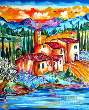 Spring by the Old Farmhouse in Tuscany by Roberto Gagliardi