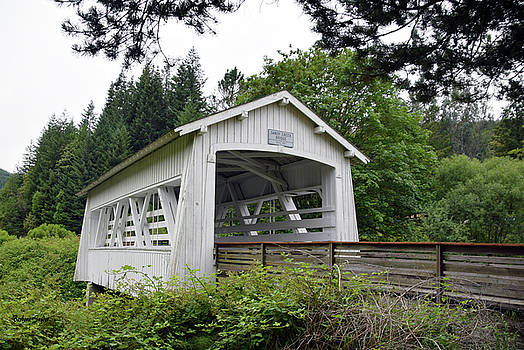 Spring Creek Covered Bridge Chiloquin Oregon 2 by Barbara Snyder