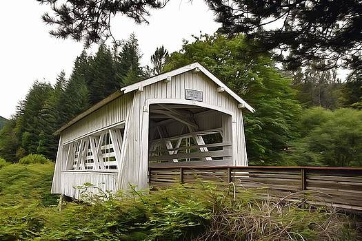 Spring Creek Covered Bridge Chiloquin Oregon 2 Painting by Barbara Snyder