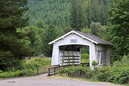 Spring Creek Covered Bridge Chiloquin Oregon by Barbara Snyder