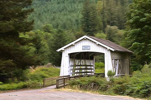 Spring Creek Covered Bridge Chiloquin Oregon Painting by Barbara Snyder