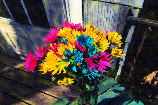 Cindy Boyd - Spring Daisies on The Porch