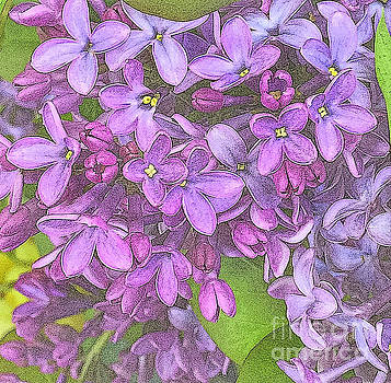 Spring Fantasy - Lilac Purple - variation by Miriam Danar