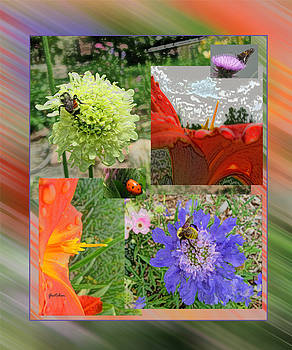 Spring Flowers and Bees Attraction by Gretchen Wrede