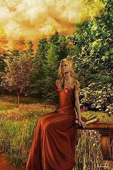 Spring In The Golden Garden by Emma Alvarez