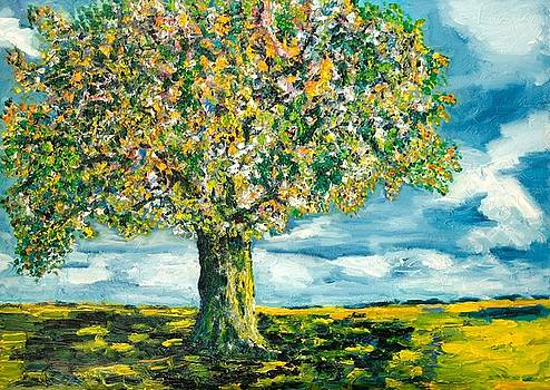 Spring Leaves Tree by Nancy Van den Boom