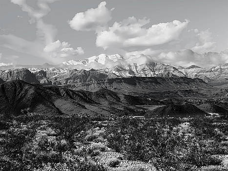 Spring Mountains in Winter Black and White by Alan Socolik