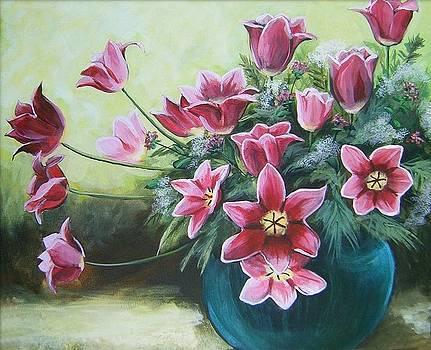 Spring Tulips by Mona Davis