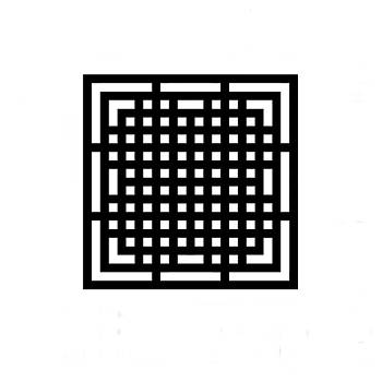 Square grid 3 black by Jerry Daniel