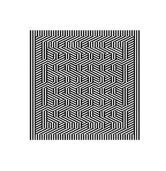Square grid 4 stripes by Jerry Daniel