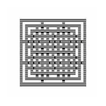 Square grid 5 shadow stripes by Jerry Daniel