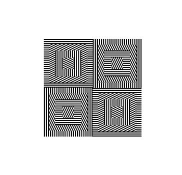 Square grid  6 rotating square stripes by Jerry Daniel