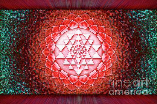 Sri Yantra - Lotus Artwork 4 by Dirk Czarnota
