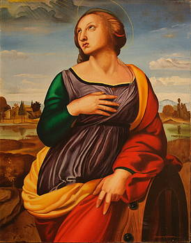 St Catherine of Alexandria-After Raphael by Rosencruz  Sumera