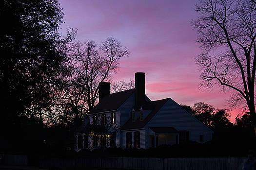 St George Tucker House at Sunset by Teresa Mucha