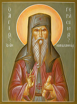 St Gerasimos of Kefalonia by Julia Bridget Hayes