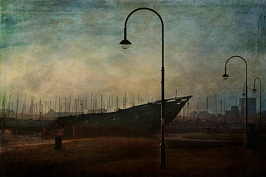 St Kilda Wreck by Jetty by Sonia Stewart