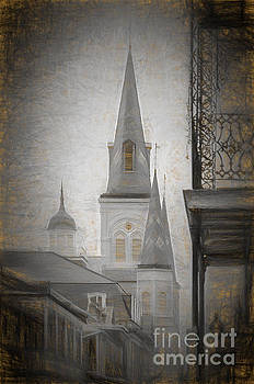 St. Louis Cathedral from Chartres St. - Nola by Kathleen K Parker