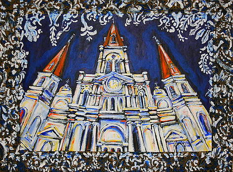 St. Louis Cathedral Tapestry by Tami Curtis