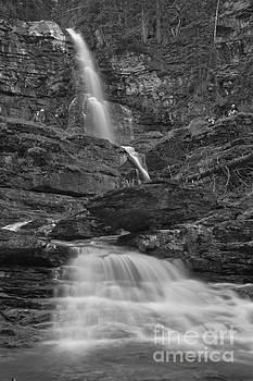Adam Jewell - St Mary Triple Cascades - Black And White