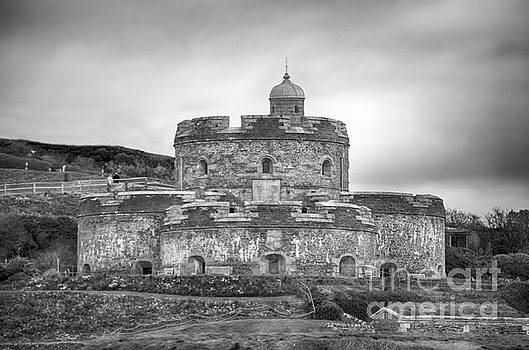 St Mawes Castle Black And White by Linsey Williams