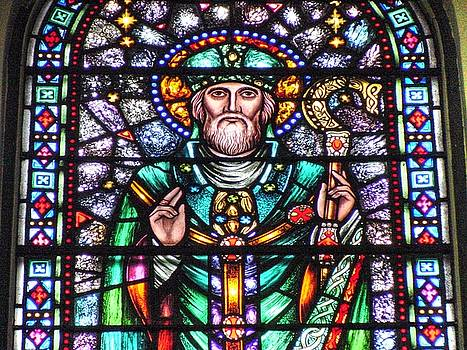 St. Patrick window in St. Mary's Church Westport Co. Mayo Ireland by Deborah Squires