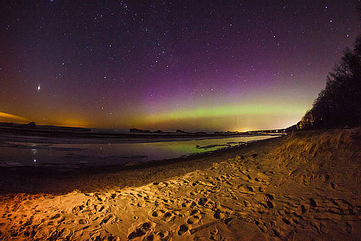 St Patty's Day Northern Lights by Jackie Novak