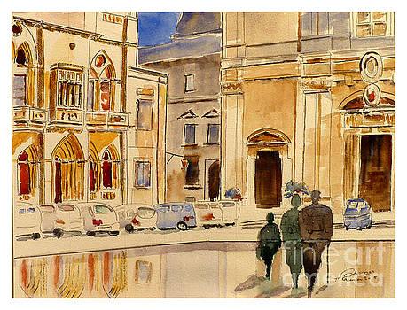 St Paul Square Mdina Malta by Godwin Cassar