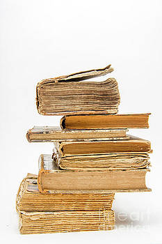 BERNARD JAUBERT - Stack of old books