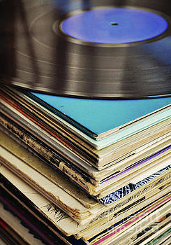 Stack of records by Lyn Randle