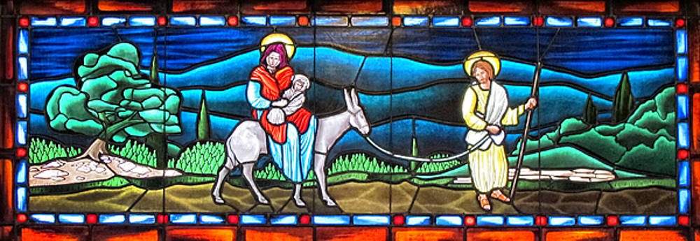 Stained Glass at Our Lady of Pompei Church by Dave Mills