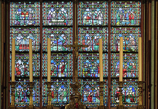 Stained Glass windows from Chapel of the Blessed Sacrement by Zina Zinchik