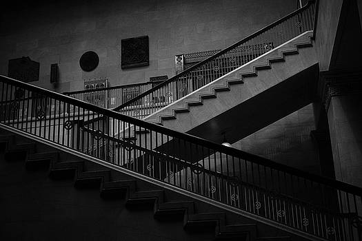 Stairs Black and White by Ester  Rogers