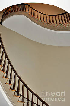 Stairs of Old Capitol 2 by Lydia Holly