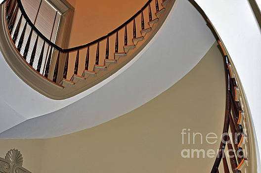 Stairs of Old Capitol 3 by Lydia Holly
