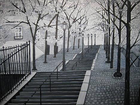 Stairs to Montmartre by Alisa Ivanova