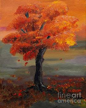 Stand Alone in Color - Autumn - Tree by Jan Dappen