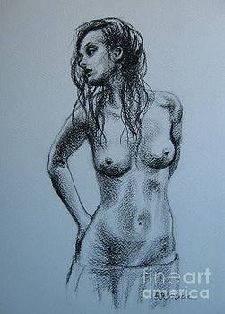 Standing nude by Elena Oleniuc