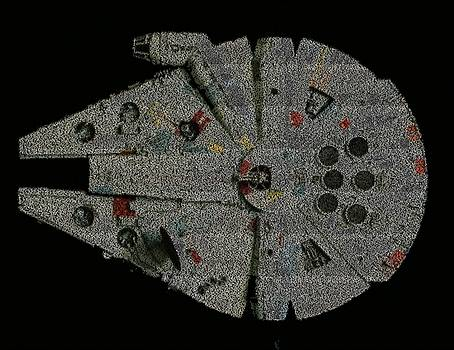 Star Wars Opening Crawls Mosaic by Paul Van Scott