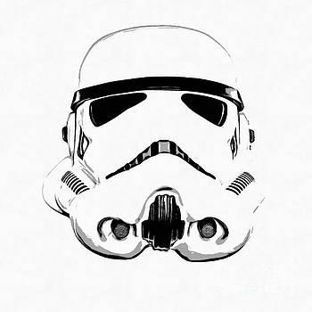 EMF - Star Wars Stormtrooper Helmet Graphic Drawing