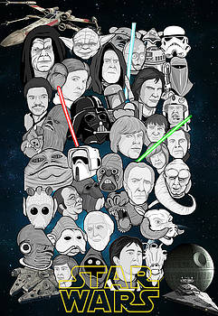 Star Wars Universe Collage by Gary Niles