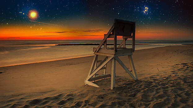 Starry Night Coast Guard Beach Cape Cod by Dapixara Art