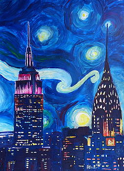 Starry Night in New York - Van Gogh Inspirations in Manhattan by M Bleichner