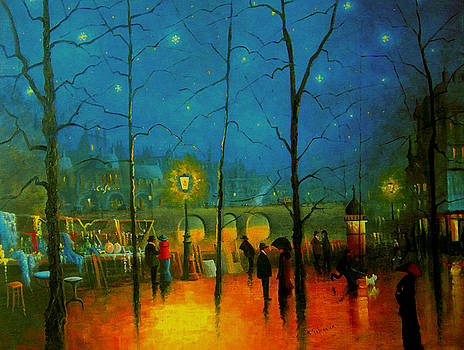 Starry Night Paris by R Gilronan