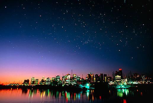 Starry sky over Vancouver by David Nunuk