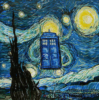 Starry Tardis by Sabrina Zbasnik